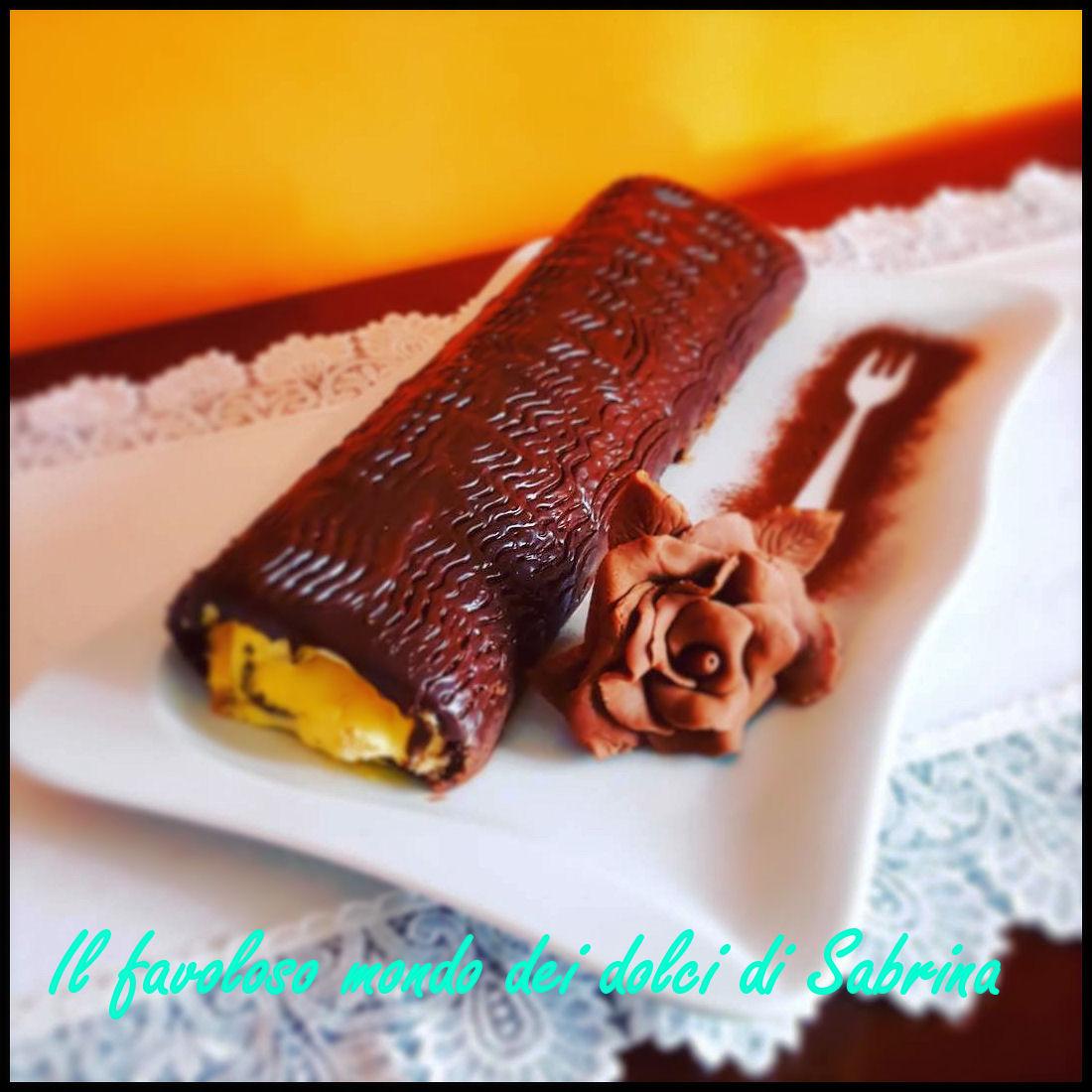 Rotolo pere e cioccolato
